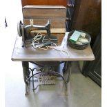 Bradbury Branded Treadle Sewing Machine: on cast Iron Base