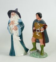 Two Un Marked Royal Doulton Lord of the Rings Figures: