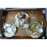 A collection of Wedgwood & Royal Doulton limited edition wall plates: