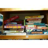 A large collection of vintage games & jigsaws to include: Uni Draw, Avalance, Merit Magic,