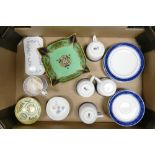A mixed collection of ceramic items to include Noritake bowl, four trio's Wedgwood pin dishes etc