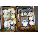 A mixed collection of items to include: 19th Century Pottery Child & mice figures(damaged,