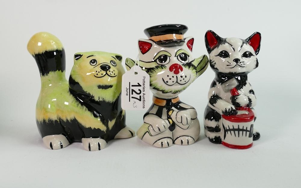 Three Lorna Bailey Cats: - Image 2 of 2