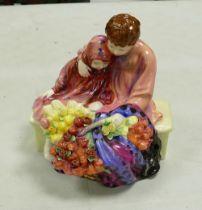 Royal Doulton seconds character figure Flower Sellers Children HN1342: