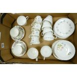 A mixed collection of floral decorated teaware to include: Wedgwood, Richomd & Royal Burlington
