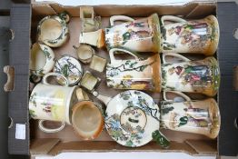 A collection of Royal Doulton series ware: The Gleaners comprising tankards, miniature items, teapot