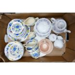 A mixed collection of items to include: Wedgwood Angela patterned Tea Ware, Susie Cooper Polka Dot