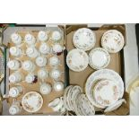 A large collection of Colclough Floral Decorated Tea & Dinner Ware: (two trays)