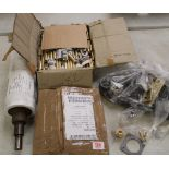 Mixed metal ware items: including approx 30kg of new brass fittings, roller etc.