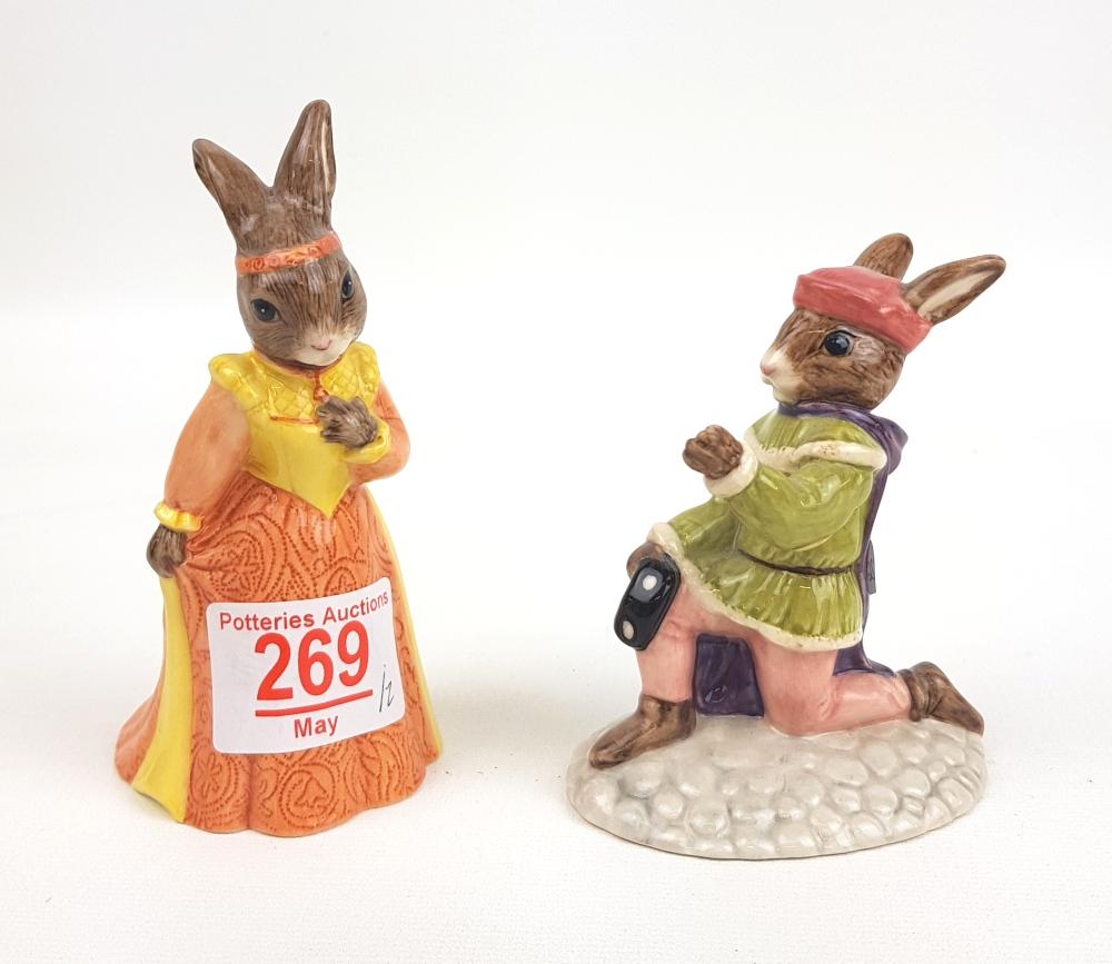 Royal Doulton Bunnykins figures Romeo DB284 & Juliet DB283(2):