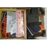 A Rollei projector and slides: Cenei Super H4 portable TV etc (1 tray).