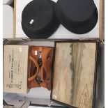 A Lincoln Bennett & co silk top hat: together with a Woodrow London silk top hat, boxed Thomas