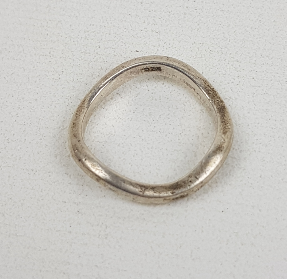 Ladies silver ring,size O/P, 3.5g: