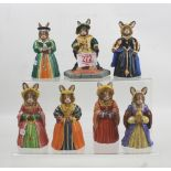 Royal Doulton Bunnykins figures: Henry VIII DB305, Anne Boleyn DB307, Jane Seymour DB308,