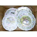 Royal Doulton Brambly Hedge Plates to include: The Engagement, Spring, The Wedding & The Birthday(4)