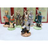 Royal Doulton Bunnykins figures from The Robin Hood Collection comprising of Prince John DB266, Maid
