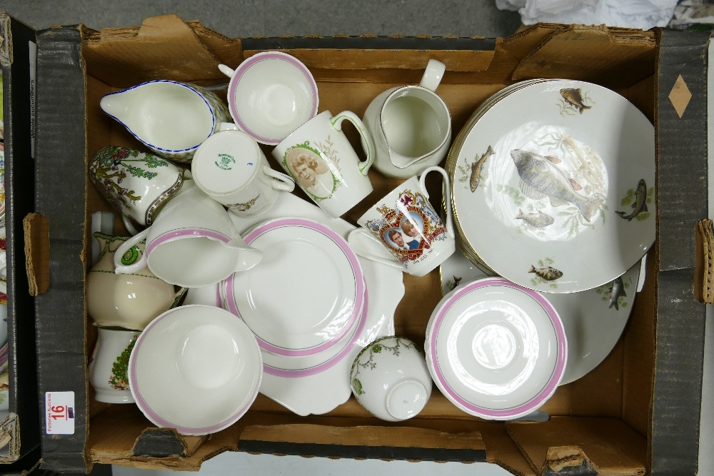 A mixed collection of items to include: Shelley Tea ware, Bavarian Dinner ware, commemorative