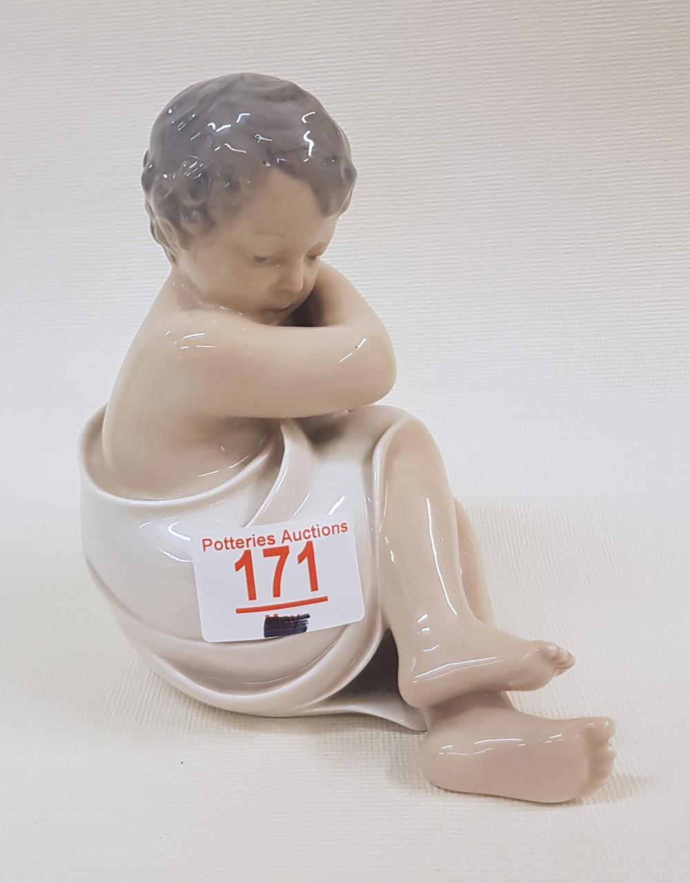 Royal Copenhagen figurine 'Rosebud': 3009, 14cm in height.