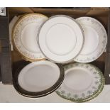 A collection of Royal Doulton dinner plates: 4 x Belmont pattern, 5 x Angelique pattern, 2 x