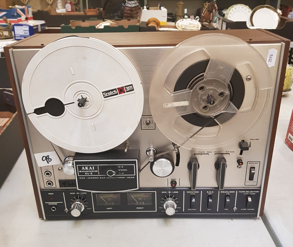 An Akai 400DS Mk2 reel to reel player: