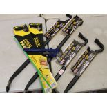2 x 914mm Gorilla bars plus 2 x 610mm Gorilla bars: together with Stanley saws etc.
