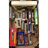A collection of boxed vehicles: Lledo, Corgi, Matchbox etc (1 tray).