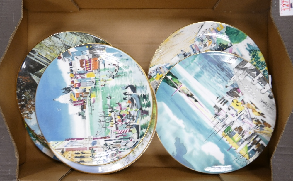 A collection of Royal Doulton Limited Edition & similar Wall Plates including: Grand Canal,