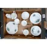 Lily of the Valley part tea set: to include milk jug, sugar bowl, 4 cups, 6 saucers, 6 side plates