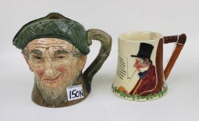 A Royal Doulton Auld Mac 'The Campbells are Coming' musical character jug: together with a Crown