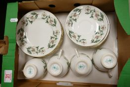 Crown Staffordshire Floral Decorated Tea Ware:
