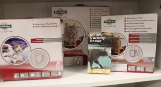 2 Petsafe Smart Cat Flaps: together with a GPS tracker, cat beds and an installation adapter.