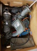 Mixed power tools: Black & Decker planer, detail sander, Performance multi purpose saw & Black &