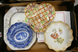 A mixed collection of item to include: Spode Italian design bowls, Spode Hinese rose Platter etc
