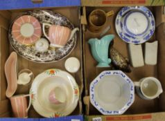 A mixed collection of ceramic items to include: Mintons Salano Ware tea ware items, Palissy Game