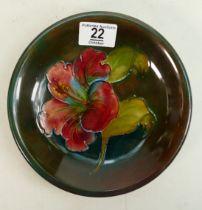 Moorcroft Hibiscus plaque: 18.5cm diameter