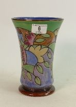 Doulton Art Nouveau Stoneware Flared Vase by Ada Tosen / Annie Lyons, incised marks AT, AL, X8857,