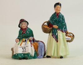 Two Royal Doulton Figures - Silks & Ribbons HN 2017 & Orange Lady HN1953. (2)