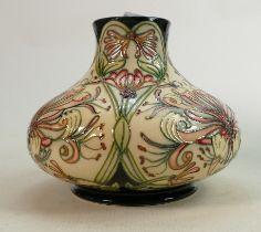 Moorcroft Honeysuckle large squat vase: Height 17cm