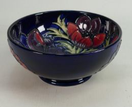 Moorcroft Clematis patterned footed bowl: Diameter 16cm.