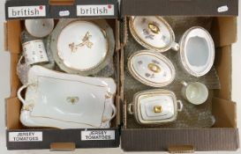 4 x early 19th century Spode sucriers and other early Spode: Includes 3 complete lidded sugar