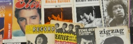 A collection of 1960's & later Music & Rock & Roll Ephemera, Tour Souvenirs & Collector Club