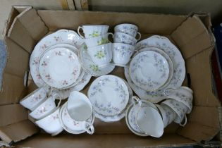 A collection of Floral Duchess China Tea Ware: three part sets