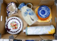 A mixed collection to include Poole pottery storage jar: Mason's jug, shelley plate etc