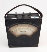 Cast Iron Amperes Testing Analogue Meter: