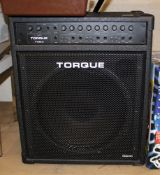 Torque T100-3 Amplifier: together with leads, microphone and stand.