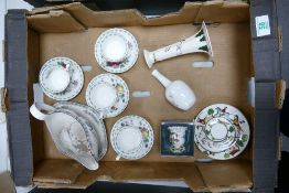 A mixed collection of items to include: Royal Albert Apple & Pears Cups and Saucers, Masons items
