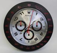 Rolex Dealer Display Wall Clock.