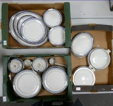 A large collection of Bisto Ironstone Dinner Ware: 3 trays