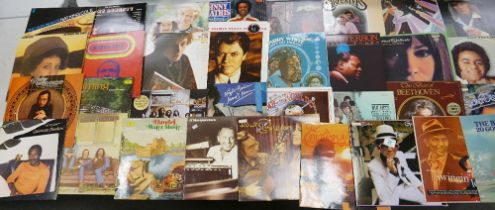 A Collection of 1970's & Later Lp's records to include: Rolling stones, Janis Ian, Marvin Gaye,