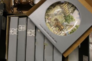 A collection of Wedgwood Farm Yard Theme Wall Plates: